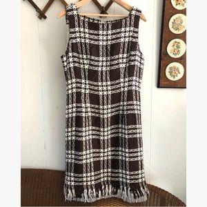Geary Roark Kamisato Woven Plaid Sheath Dress